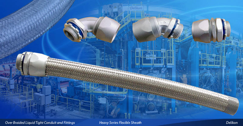 [CN] Automation Delikon Heavy Series Over Braided Flexible Conduit heavy series conduit Fittings for Petrochemical Industry Data and Power Cable Protection.