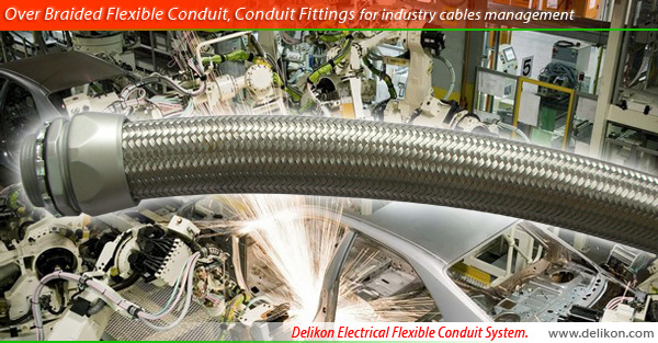 [CN] Automation Delikon heavy series Over Braided Flexible Conduit,heavy series flexible Conduit Fittings for industry cables management