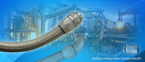 [CN] Delikon EMI Shielding Heavy Series Over Braided Flexible Conduit and Heavy Series Conduit Connector protect Continuous Casting Machine electrical power and
